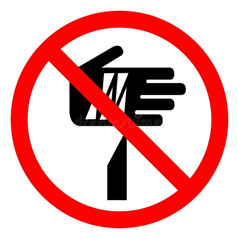 Sinal afiado do símbolo do ponto do perigo de ferimento, ilustração do vetor, isolado na etiqueta branca do fundo EPS10 ilustração do vetor