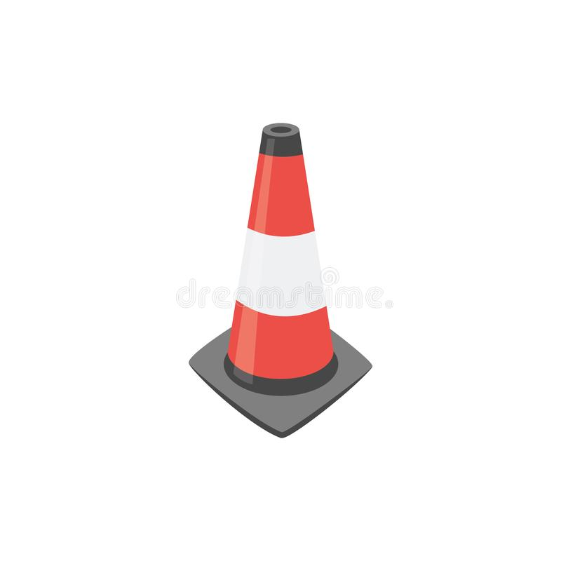 Sinal alaranjado do cone do tráfego ilustração do vetor