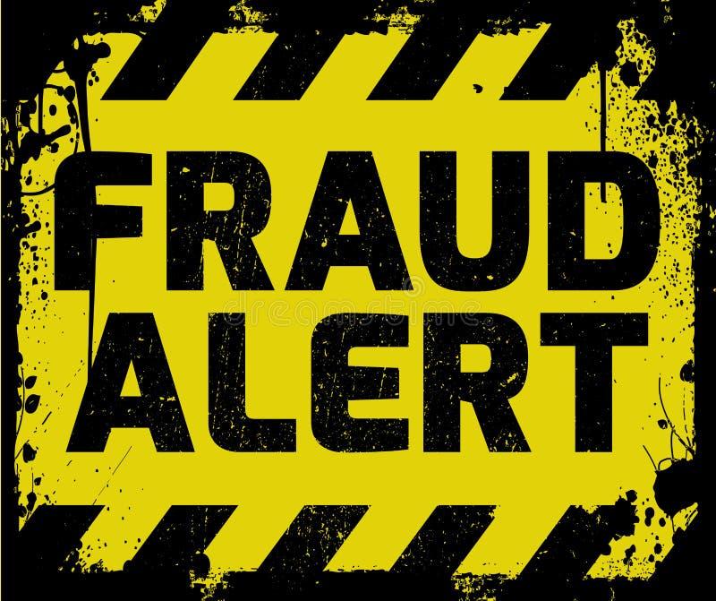 Sinal alerta da fraude ilustração stock