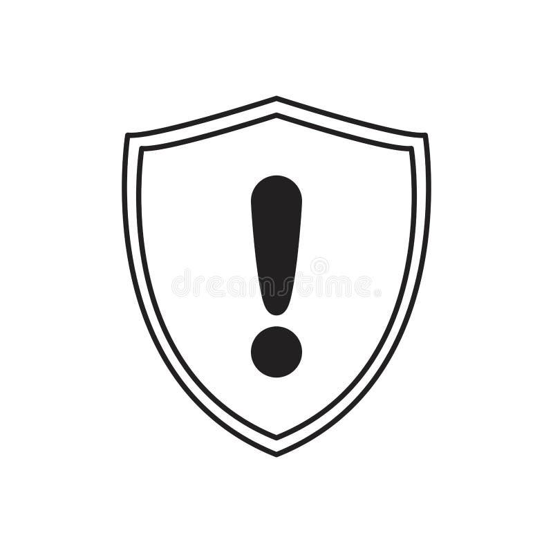 Sinal alerta do aviso da proteção do protetor ilustração stock