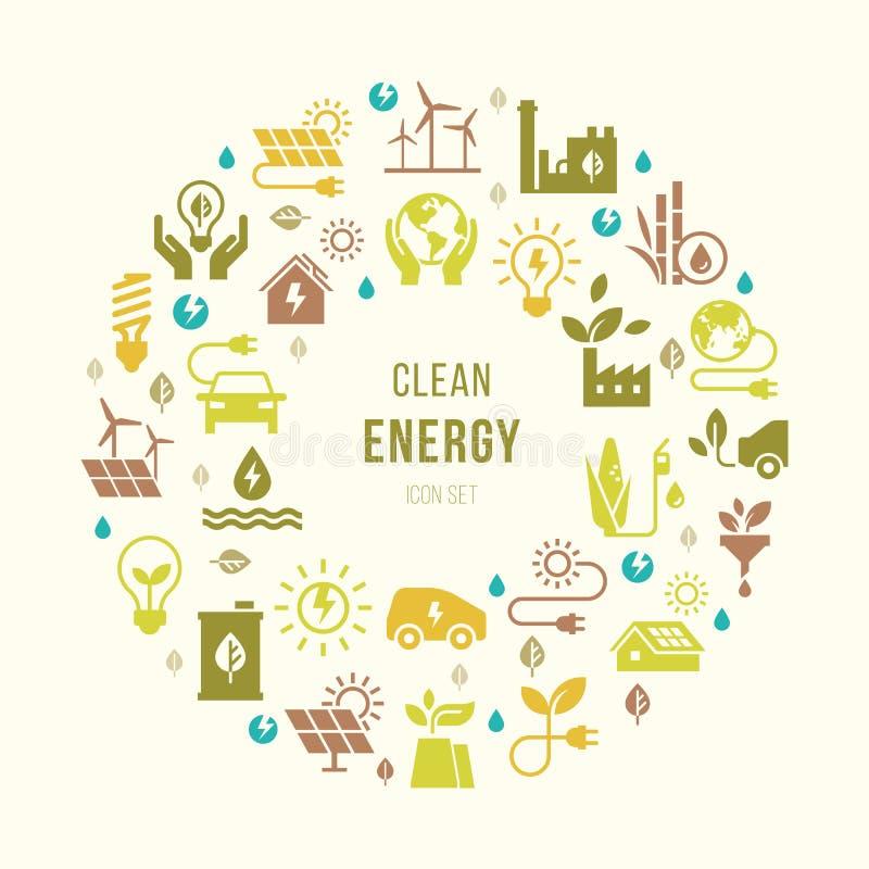 Sinal alternativo criativo redondo das fontes de energia do vetor ilustração royalty free