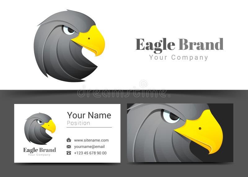 Sinal animal de Eagle Black Corporate Logo e do cartão ilustração stock