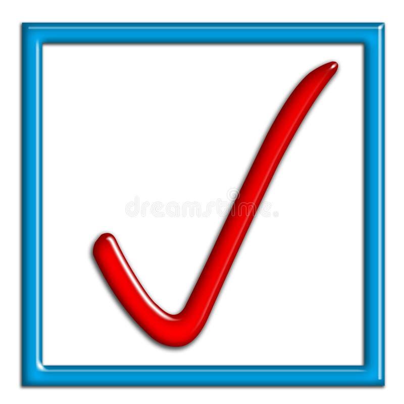 Sinal aprovado ilustração do vetor