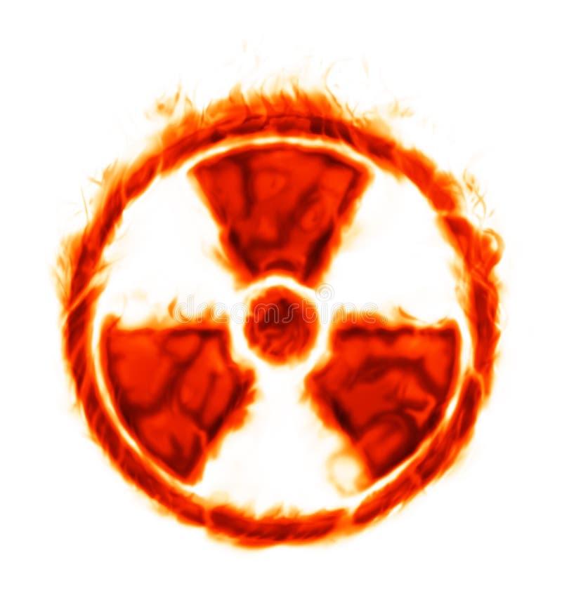 Sinal ardente da radiação ilustração stock