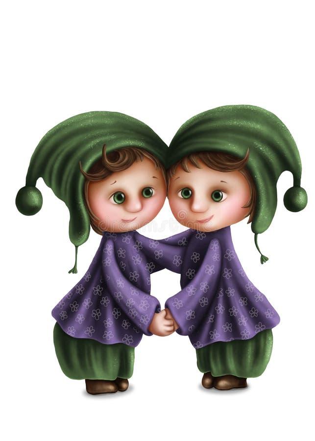 Sinal astrológico dos Gêmeos ilustração stock