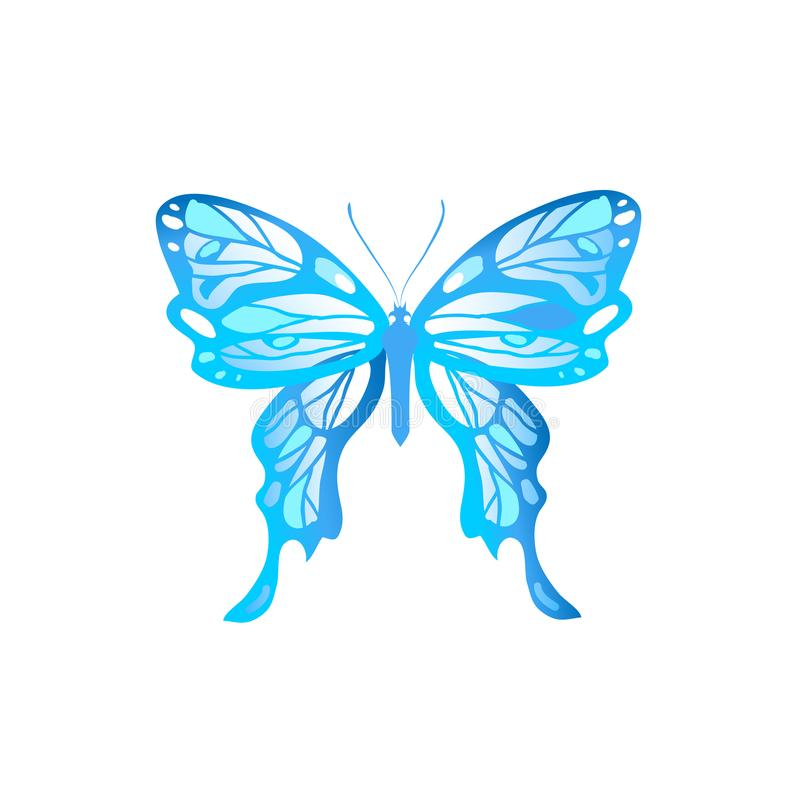 Sinal azul da borboleta ilustração royalty free