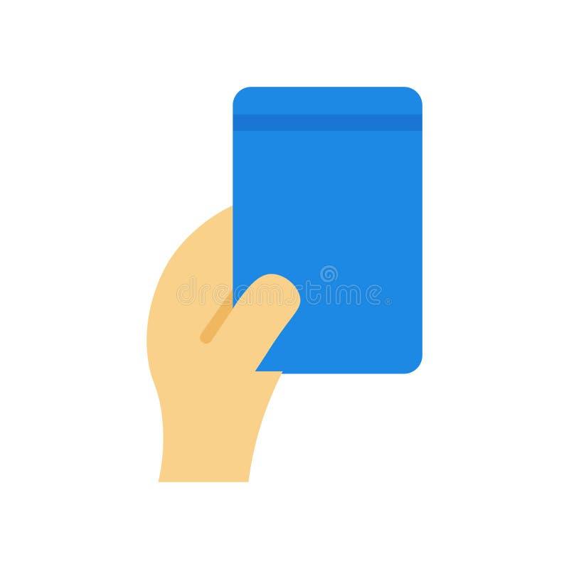 Sinal azul e símbolo do vetor do ícone do cartão isolados no fundo branco, conceito azul do logotipo do cartão ilustração do vetor