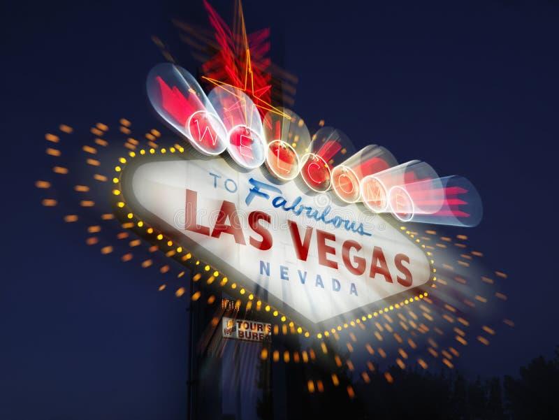 Sinal bem-vindo borrado de Las Vegas fotos de stock royalty free