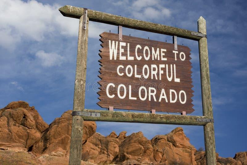 Sinal bem-vindo de Colorado imagens de stock royalty free