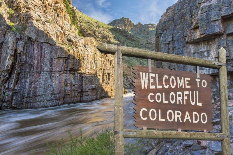 Sinal bem-vindo de Colorado foto de stock
