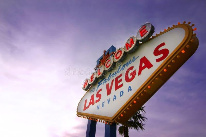 Sinal bem-vindo de Las Vegas imagens de stock