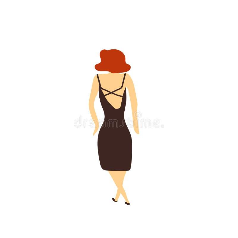 Sinal bonito e símbolo do vetor do vetor da mulher do gengibre isolados no fundo branco, conceito bonito do logotipo do vetor da  ilustração stock
