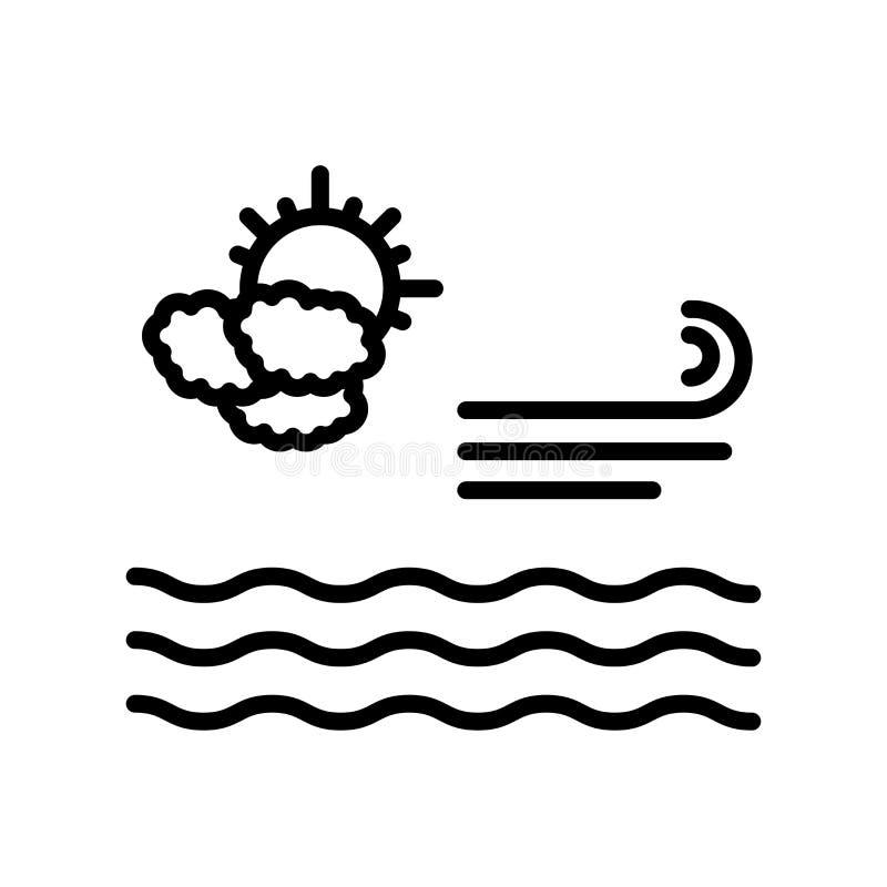 Sinal calmo e símbolo do vetor do ícone isolados no fundo branco, conceito calmo do logotipo ilustração stock