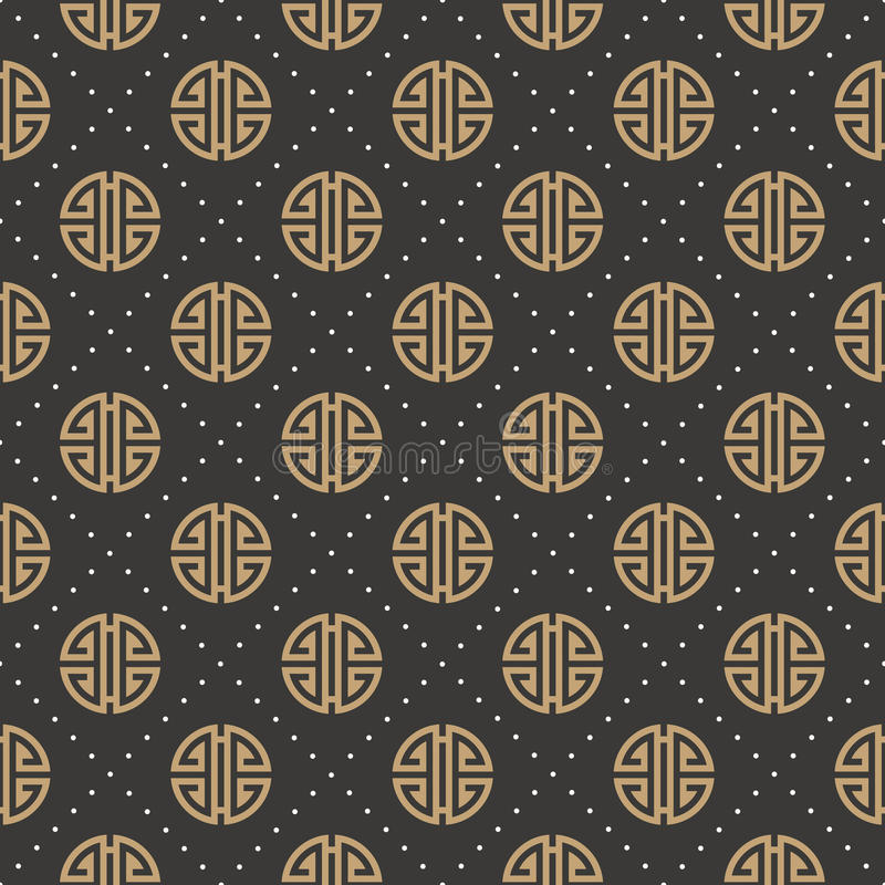 Sinal chinês do ano novo sem emenda ilustração stock