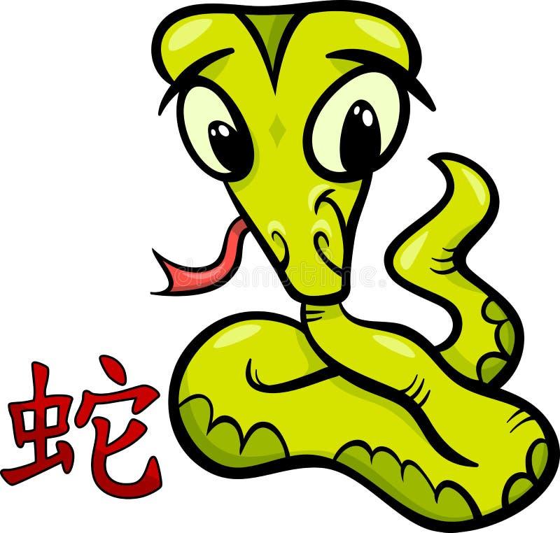 Sinal chinês do horóscopo do zodíaco da serpente ilustração royalty free