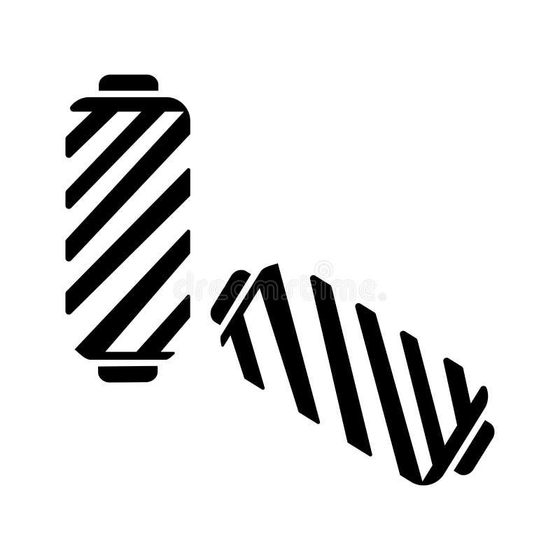 Sinal cilíndrico e símbolo do vetor do ícone da lâmpada isolados no fundo branco, conceito cilíndrico do logotipo da lâmpada ilustração royalty free