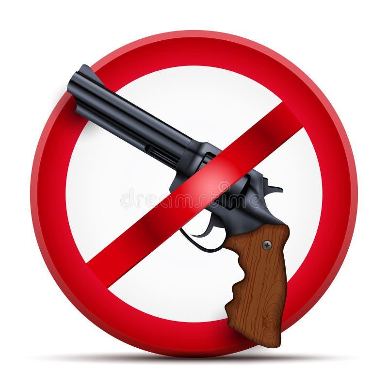 Sinal com arma e armamento da parada do símbolo ilustração royalty free