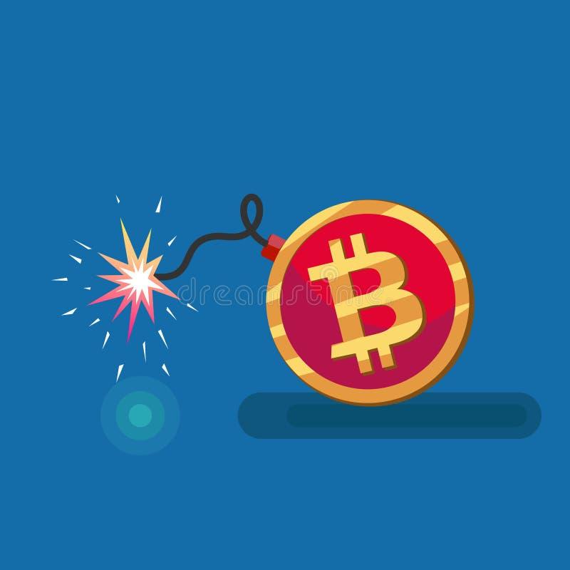 Sinal conceptual do bitcoin ilustração do vetor