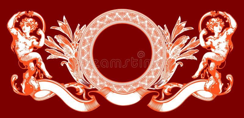 Sinal cor-de-rosa do Cupid no vermelho. ilustração royalty free