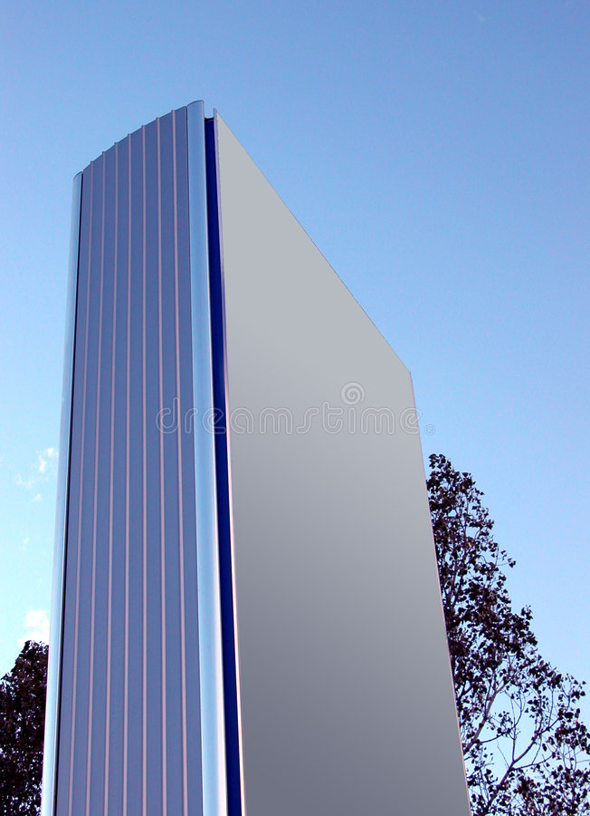Sinal corporativo - apenas adicione seu logotipo fotografia de stock