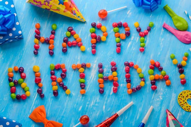 Sinal criativo do feliz aniversario fotos de stock