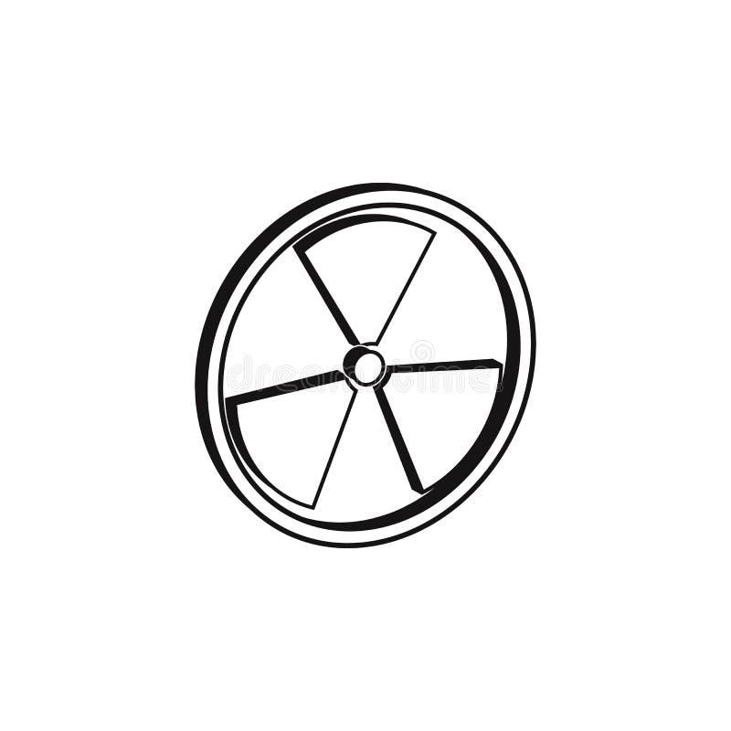 sinal 3D do ícone da radiação O elemento do perigo assina o ícone Ícone superior do projeto gráfico da qualidade Sinais e ícone F ilustração stock