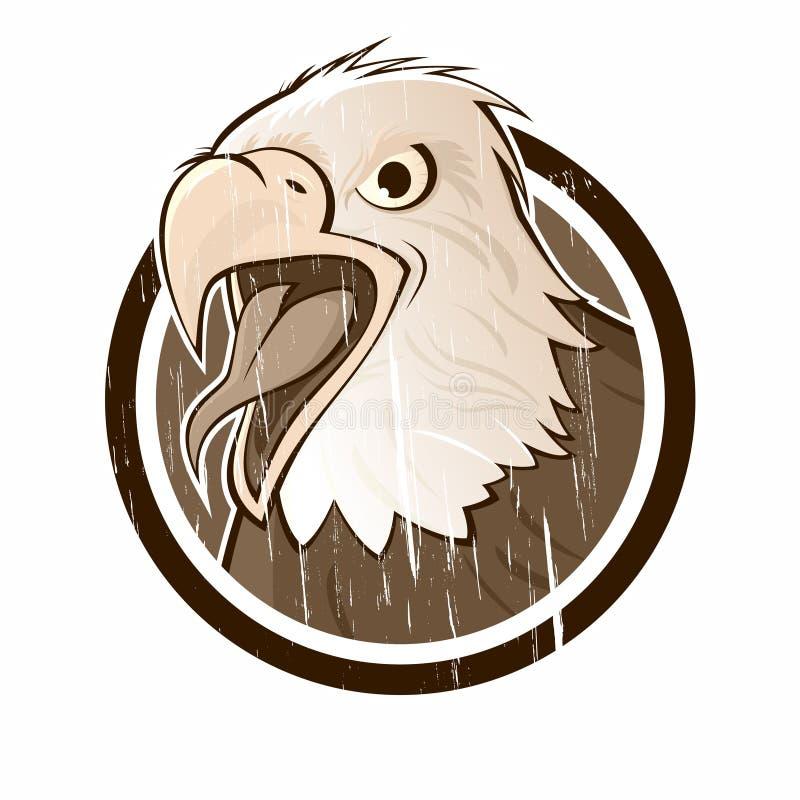 Sinal da águia do vintage ilustração stock
