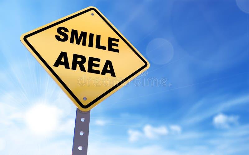 Sinal da área do sorriso ilustração do vetor