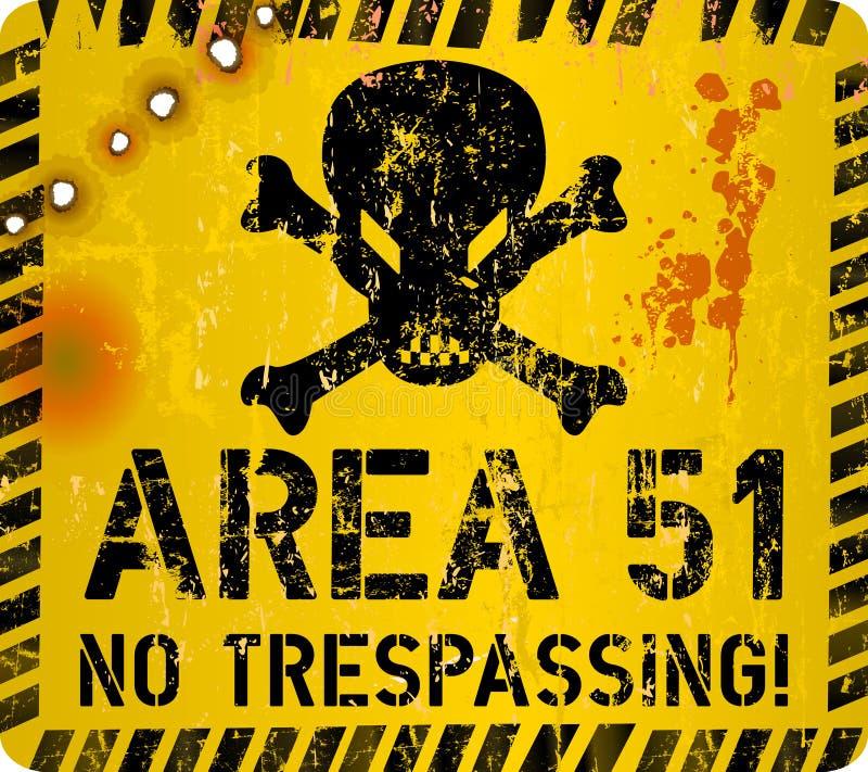 Sinal da área 51 Vetor ilustração stock
