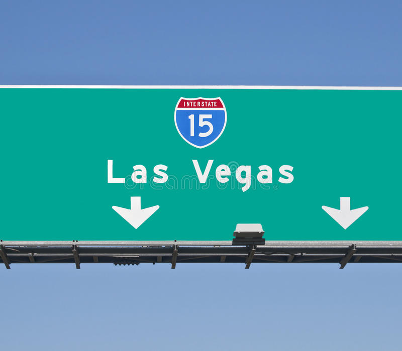 Sinal da autoestrada de Las Vegas imagens de stock royalty free