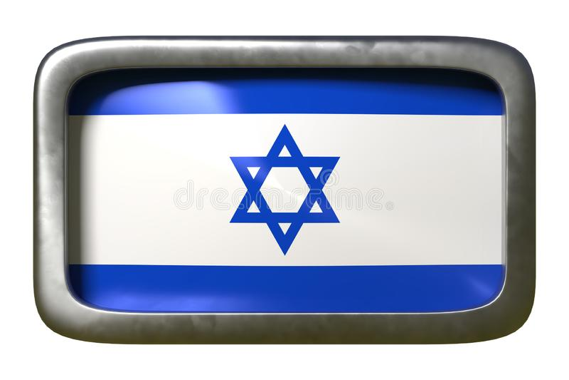 Sinal da bandeira de Israel ilustração royalty free