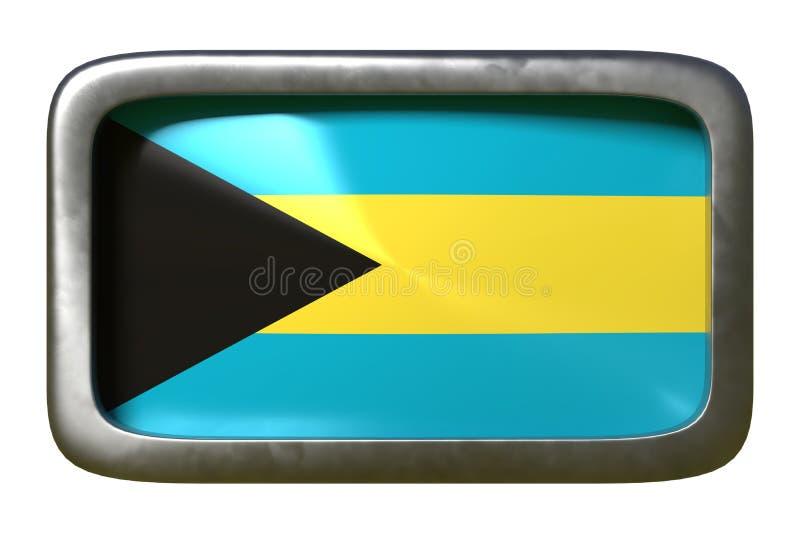 Sinal da bandeira do Bahamas ilustração do vetor