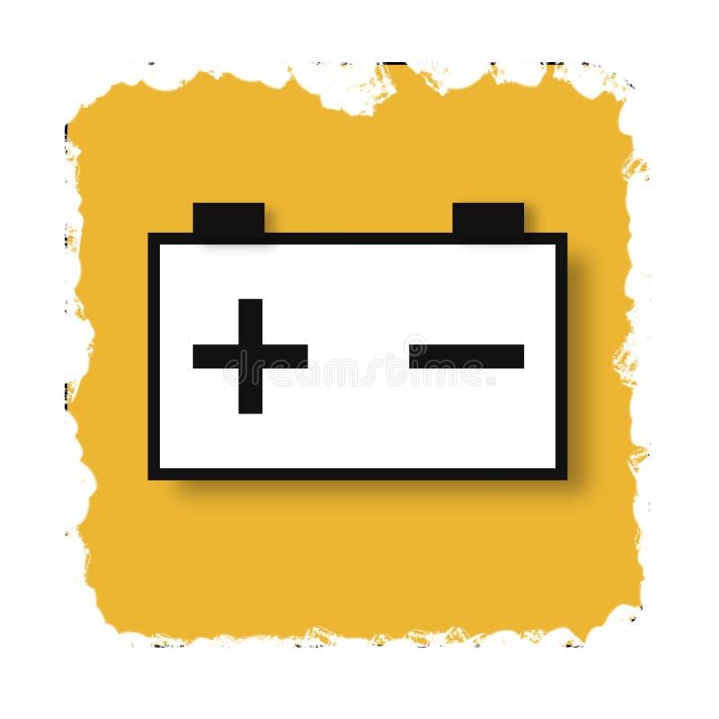 Sinal da bateria de carro, cartaz abstrato do negócio da qualidade super ilustração do vetor