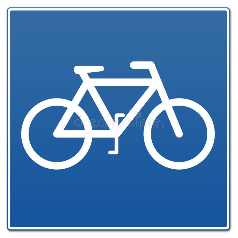 Sinal da bicicleta ilustração royalty free