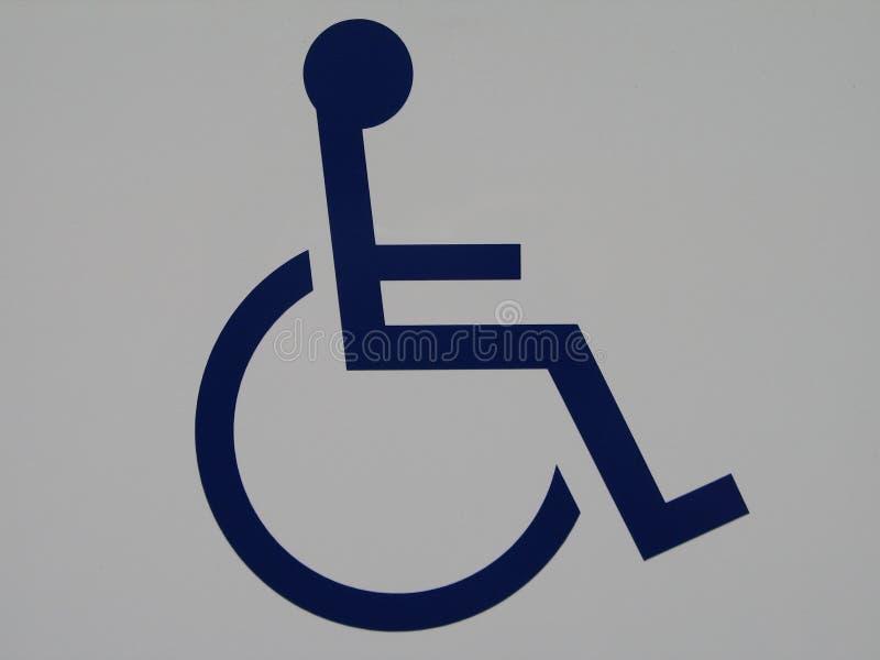 Sinal da cadeira de rodas foto de stock royalty free