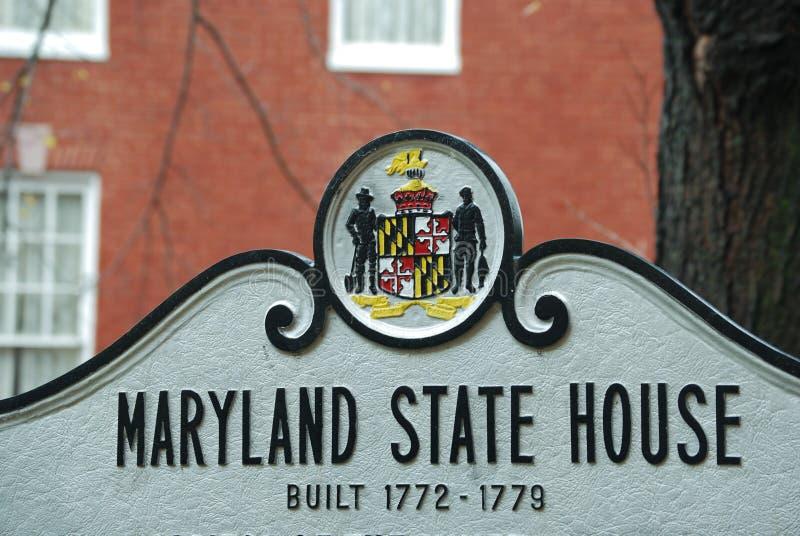 Sinal da casa do estado de Maryland imagem de stock royalty free