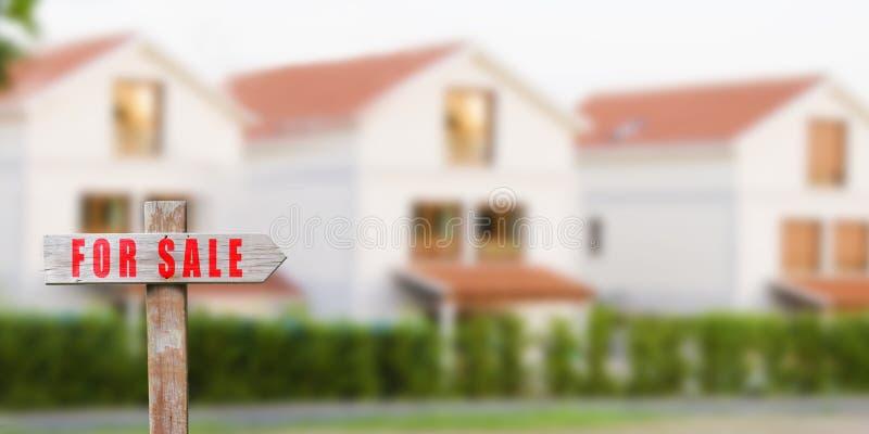 Sinal da casa para a venda fotos de stock royalty free