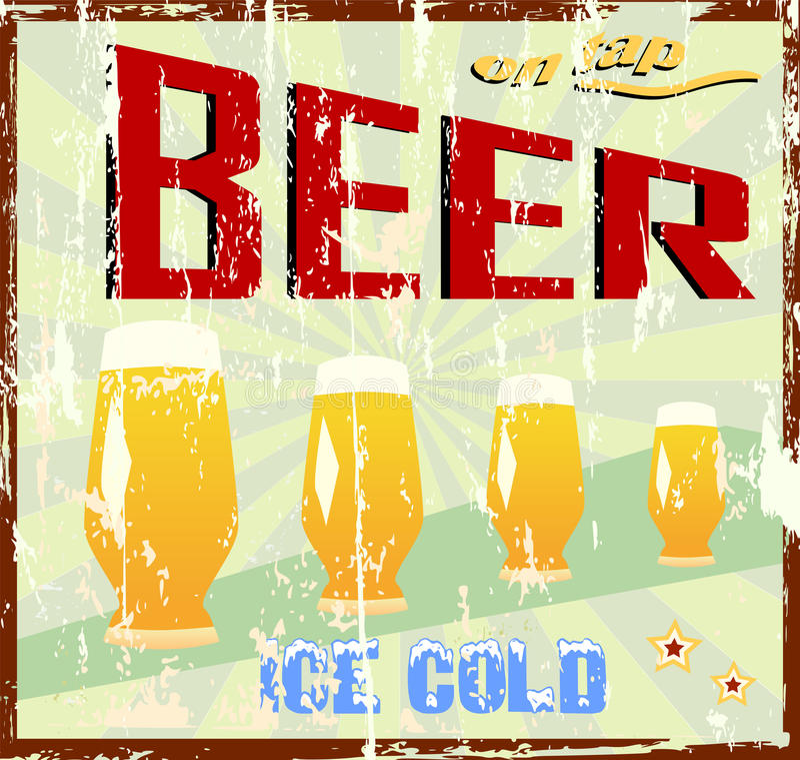 Sinal da cerveja ilustração do vetor
