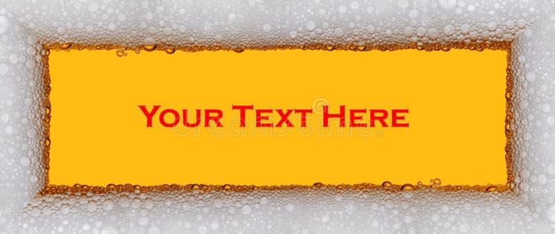 Sinal da cerveja com textura do froth fotos de stock royalty free