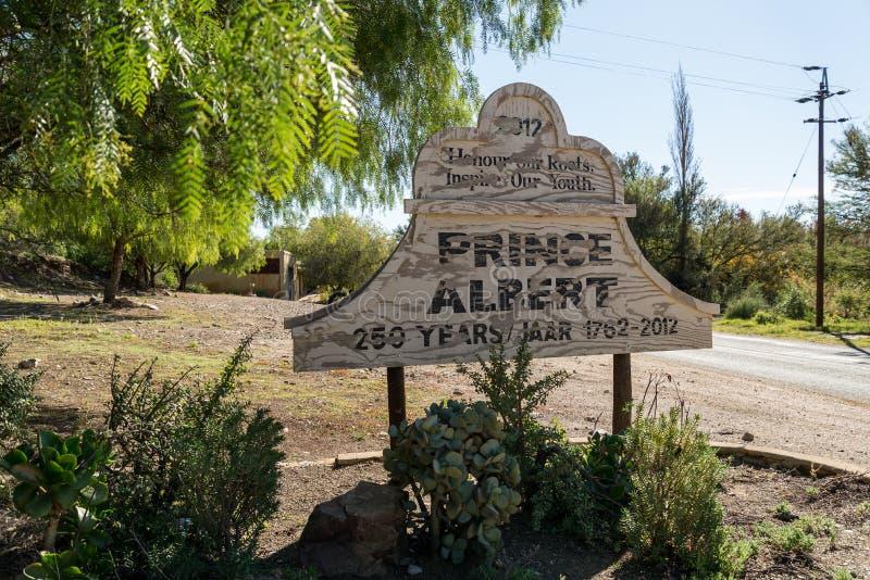 Sinal da cidade do príncipe Albert foto de stock royalty free