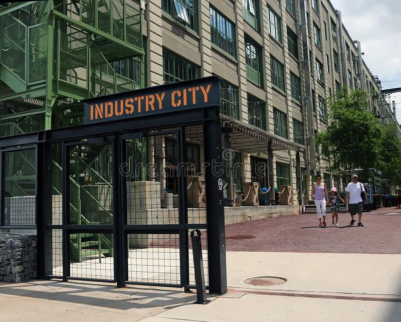 Sinal da cidade da indústria imagem de stock royalty free