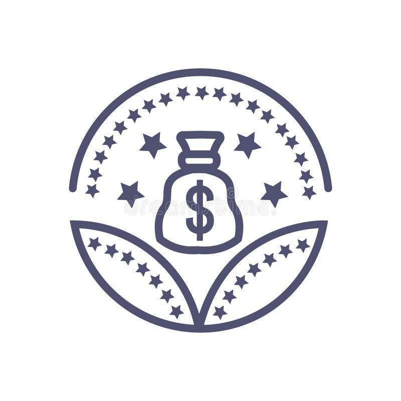 Sinal da concess?o do dinheiro do ?cone da concess?o do investimento do dinheiro ilustração royalty free