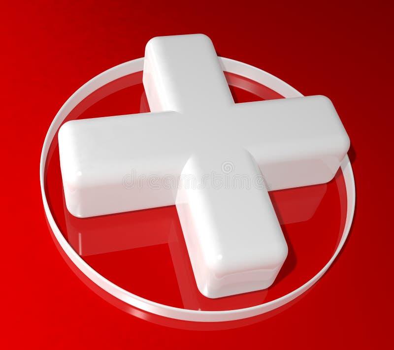 sinal da cruz da saúde 3d ilustração royalty free