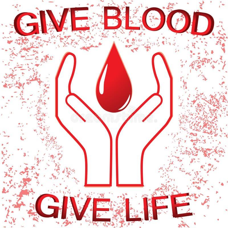 Sinal da doação de sangue ilustração royalty free