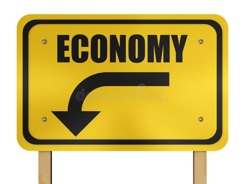 Sinal da economia ilustração stock
