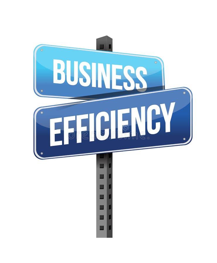 Sinal da eficiência do negócio ilustração royalty free