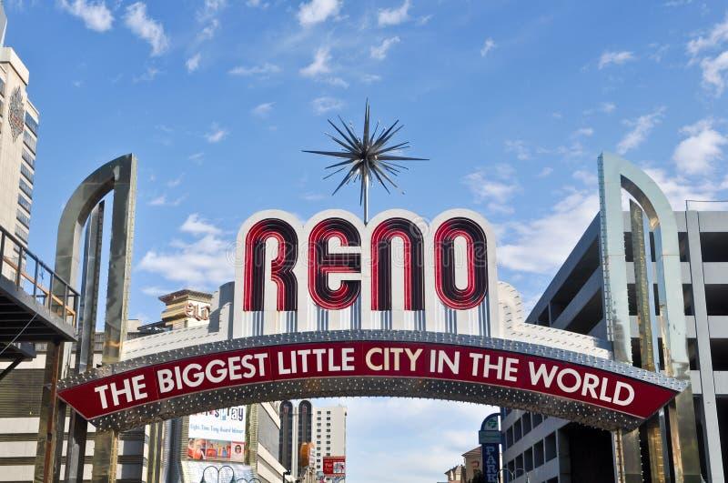 Sinal da entrada de Reno Nevada fotos de stock royalty free