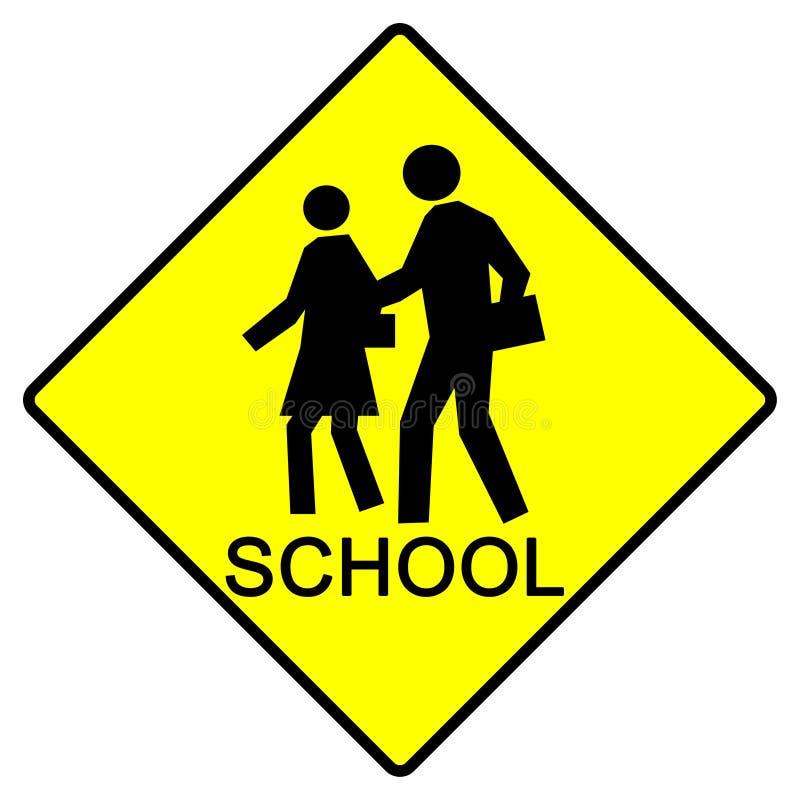 Sinal da escola ilustração stock