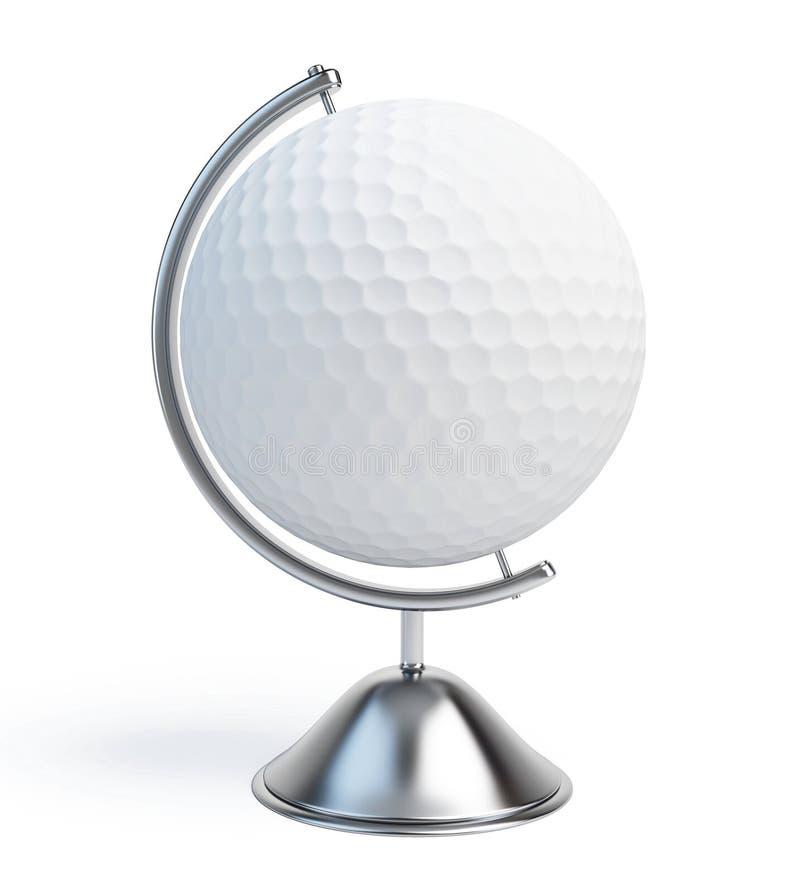 Sinal da esfera de golfe do globo ilustração royalty free
