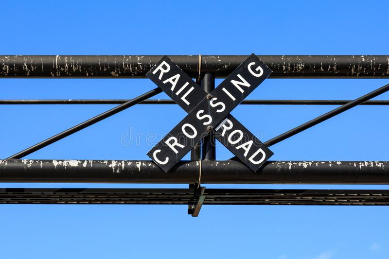 Sinal da estrada de ferro foto de stock royalty free